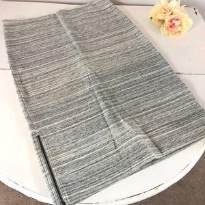 Ann Taylor Loft Gray Stretch Cotton Pencil Skirt